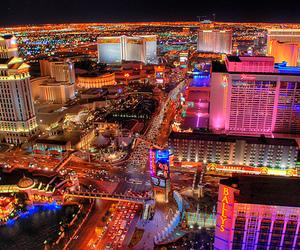 city, light, and Las Vegas image