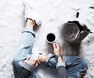 adidas, style, and coffee image