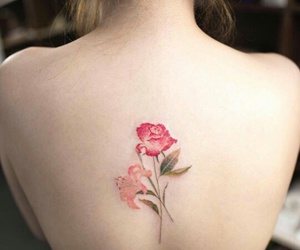 body art, flowers, and tattoo image