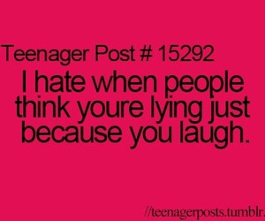 hate, teenager post, and laugh image
