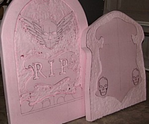 pink, dark, and death image