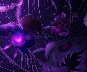 muffet, undertale, and spider image