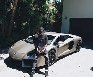 bryson tiller, car, and Lamborghini image