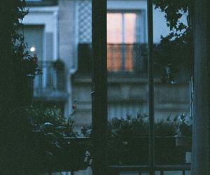 night, window, and photography image