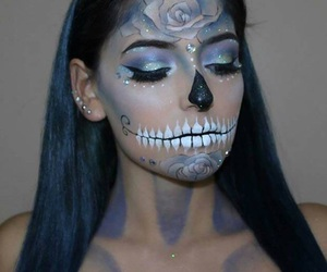 blue, diamond, and halloween look image