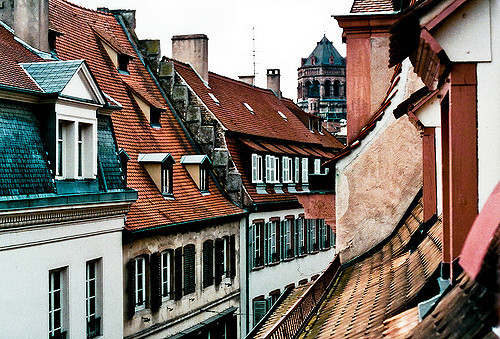 roof tops and the city image