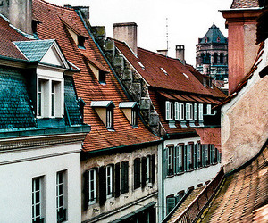 the city and roof tops image