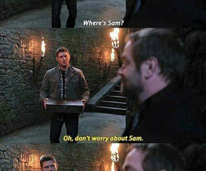 crowley, supernatural, and dean winchester image
