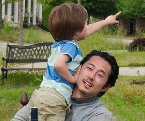 the walking dead, glenn, and sad image