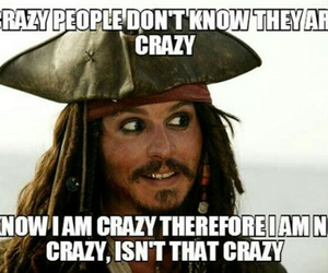 crazy, funny, and jack sparrow image