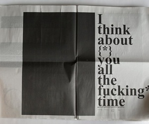 aesthetic, black, and news paper image