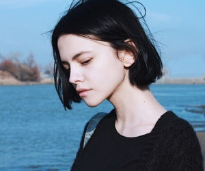 girl, black, and pale image