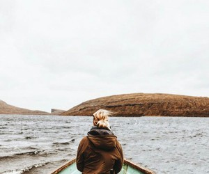 girl, boat, and travel image
