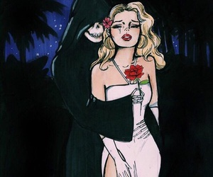 art, rose, and death image