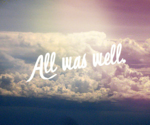 quote, sky, and clouds image