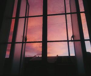 sky, pink, and window image