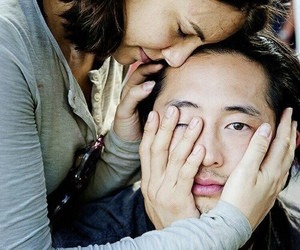 glenn, the walking dead, and Maggie image