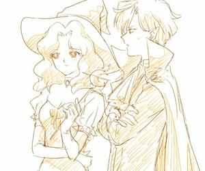 Halloween, vampire, and witch image