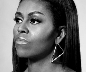 black and white, first lady, and michelle obama image