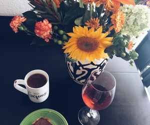 chocolate, romance, and sunflowers image