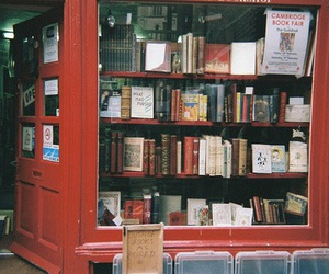 book, vintage, and red image