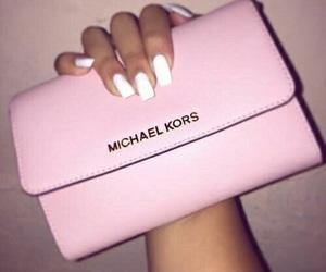 pink, nails, and Michael Kors image