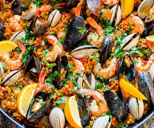 rice, paella, and Chicken image