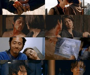 the walking dead, glenn, and Maggie image