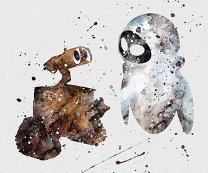 disney, wall-e, and art image