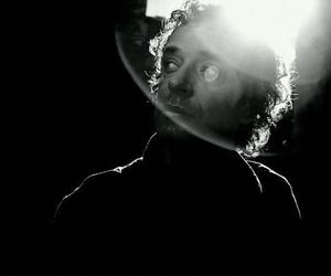 black and white, gustavo cerati, and soda stereo image