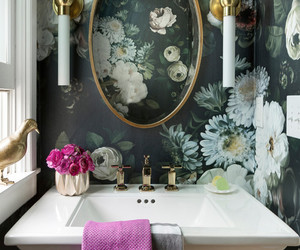 bathroom, beautiful, and flowers image