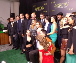 arrow, party, and 100 episodes image