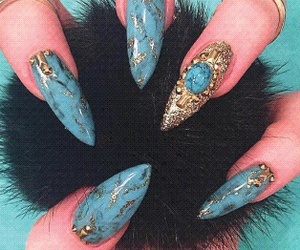 acrylic, marble, and nails image