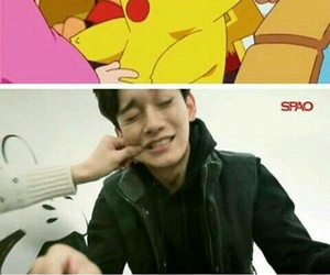 Chen, exo, and pikachu image