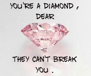 diamond, quotes, and break image
