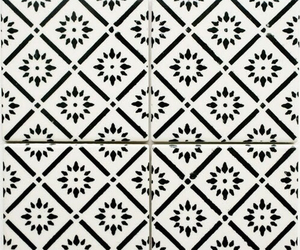 tiles, pattern, and black and white image