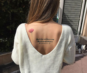 back, flower, and meaning image