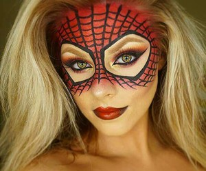 Halloween, makeup, and spiderman image