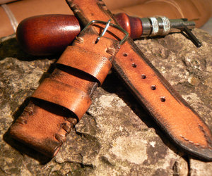 christmas gift, leather watch strap, and father's day gift image