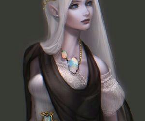 art, elf, and fantasy image