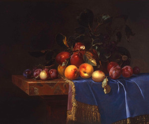 art, fruit, and painting image