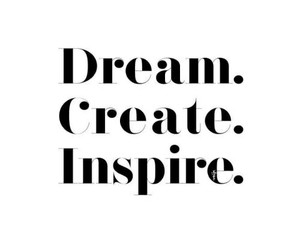 create, words, and Dream image