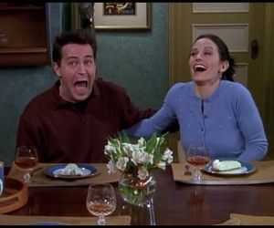 chandler, monica, and f.r.i.e.n.d.s image