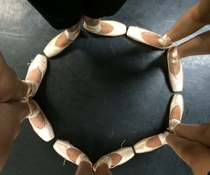 ballet, happiness, and point shoes image