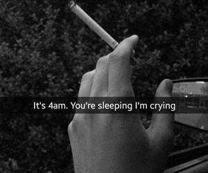 sad, cigarette, and cry image