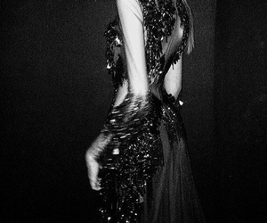 fashion, black and white, and Couture image