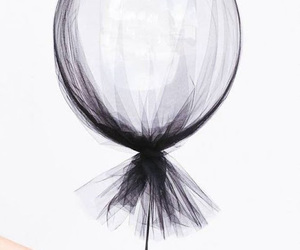 balloons and black image