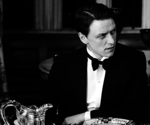 black and white, james mcavoy, and atonement image