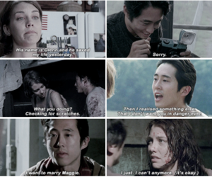 tv show, steven yeun, and maggie greene image