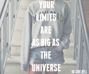 edit, inspirational, and limits image